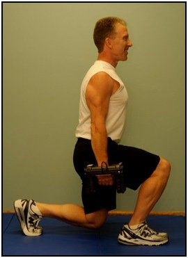 Bill DeSimone demonstrating a congruent split squat.