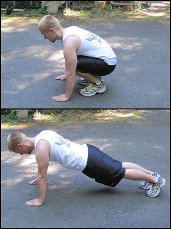 How to do burpee exercise, pic #2.