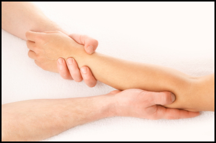 Massage helps you cure wrist and thumb pain.
