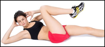 Ab bicycles are some of the 6 best ab exercises!