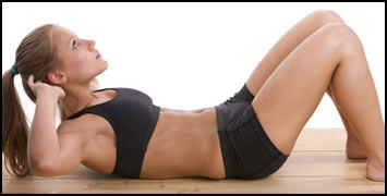 6 Best Ab Exercises- Knee bent crunches are a great way to workout your upper abs.