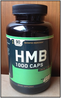 Here's one of the HMB supplement bottles I use. I like it because I just take 3 pills a day.