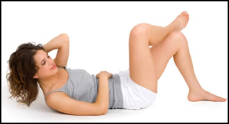 Crossover crunches hit all your abs, and are particularly good for working your oblique abdominal muscles.