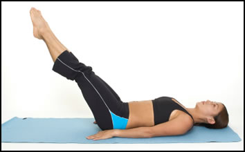 Extended leg lifts are great for strengthening the lower abs.