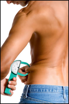 Use the body fat caliper formula for feedback to keep on track to your own washboard abs!