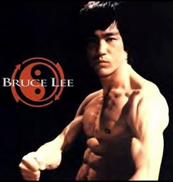 Bruce Lee, who used this isometric workout to build his strong body. This image was originally posted on Flickr by Peta-de-Aztlan.