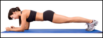 Core muscle exercises like the plank develop great core strength!