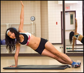 The side plank is another one of the best core muscle exercises.