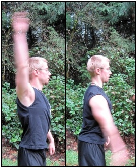Simple dynamic stretches, such as arm circles, are great for warming-up before exercise.