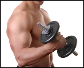 Eccentric strength training, like lowering this dumbbell, is an important part of any training routine.