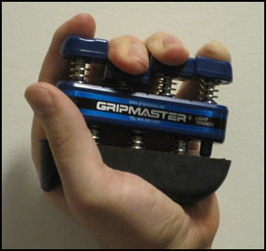 Gripmasters are a good way of working on individual finger strength.