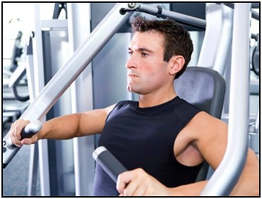 The chest press is a simple and effective lift to use for high intensity weight training.