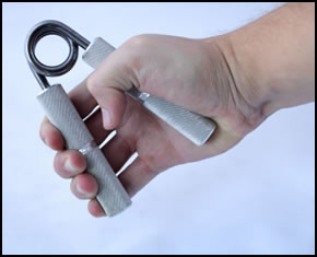 Hand grippers like these are excellent for developing crushing grip strength!