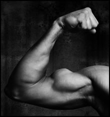 Flexing your bicep is an example of an isometric contraction.