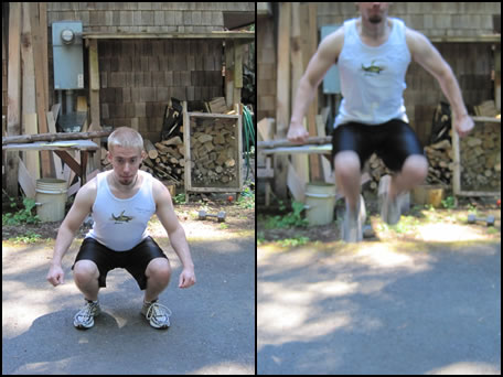 How to do a jump squat.
