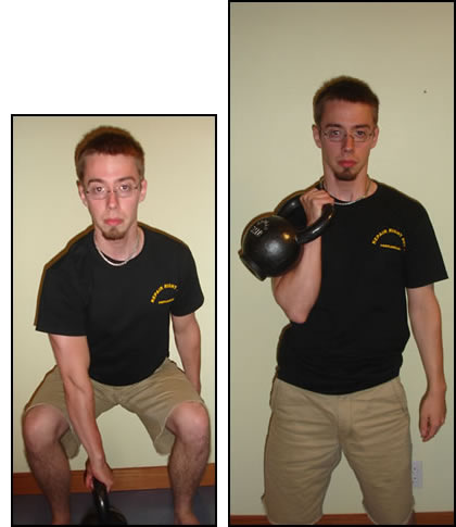 How to do the kettlebell clean...