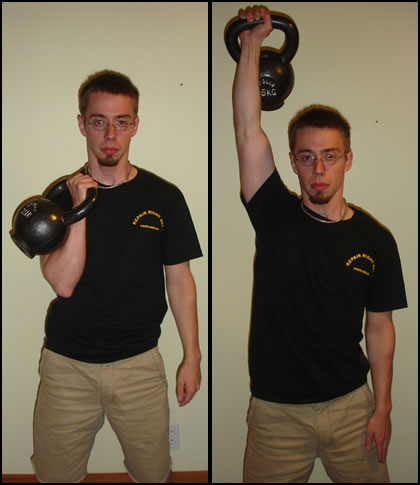 How to do the kettlebell clean and press.