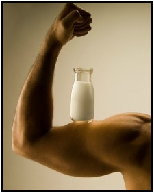 Milk is a great post workout drink.
