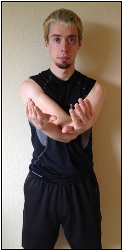 Shoulder stretches, outside arm stretch 2.