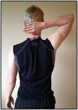 Shoulder stretches, hand behind your head 1.