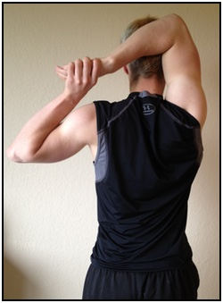 Shoulder stretches, hand behind your head 2.