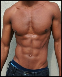 This six pack body shows off his workouts damn well.