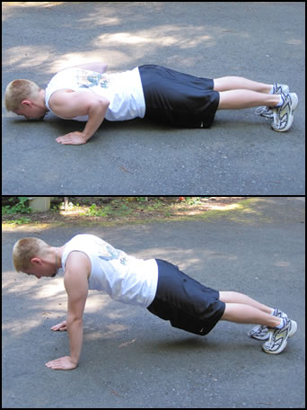 How to do burpee exercise, pic #3.