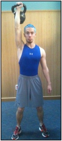 How to do kettlebell snatches, photo 2.