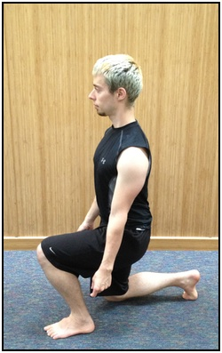 Split squat, bottom.
